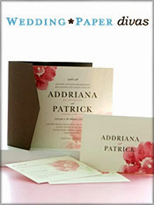 Picture of best wedding invitations from Wedding Paper Divas catalog