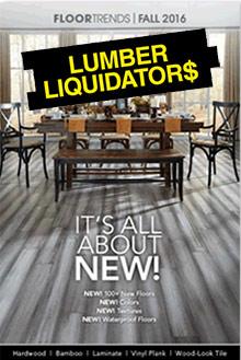 Picture of install wood floor from Lumber Liquidators catalog