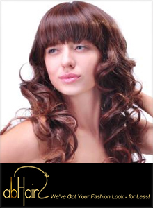 Picture of affordable hair extensions from abHair catalog