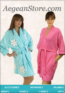 Picture of terry cloth bathrobes for women from Aegean Store - Robes & Sleepwear catalog
