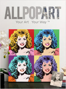 Picture of custom pop art from AllPopArt catalog