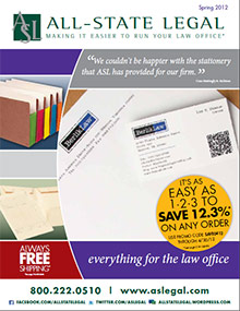 Picture of legal supplies from ALL-STATE LEGAL catalog
