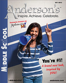 Picture of kids personalized gifts from Anderson�s Middle School catalog