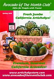 Picture of avocado varieties from Avocado of the Month Club catalog
