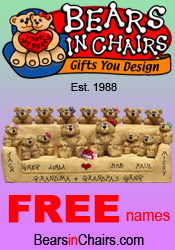 Picture of parent gifts from Bears in Chairs, Gifts You Design! catalog