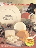 Picture of cheese gift basket from Wisconsin Cheeseman catalog