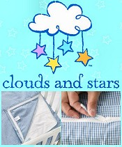 Picture of baby crib bedding from Clouds and Stars catalog