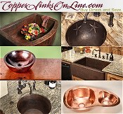 Picture of copper sinks from Copper Sinks Online catalog