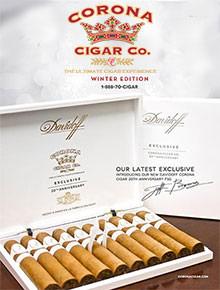 Picture of Montecristo cigars from Corona Cigar Company catalog