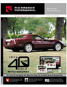 Picture of Corvette parts catalog from Corvette Parts from Mid America Motorworks catalog
