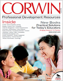 Picture of teaching textbooks from Corwin Press catalog
