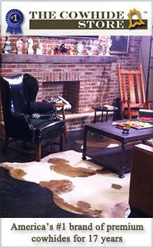 Picture of the cowhide store from The Cowhide Store catalog