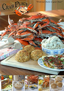 Picture of Maryland crab cakes from The Crab Place catalog