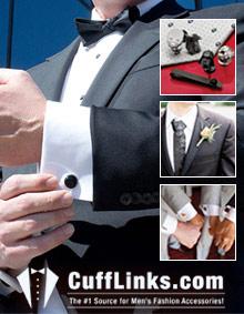 Picture of 14k gold cufflinks from CuffLinks.com catalog