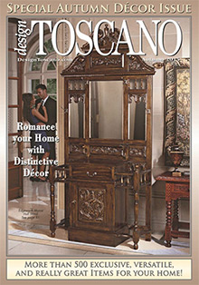Picture of Tuscan home decor from Design Toscano catalog