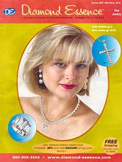 Picture of simulated diamond jewelry from Diamond Essence - old catalog