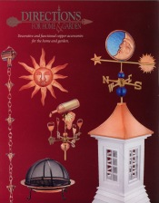 Picture of weather vanes from Directions for Home and Garden catalog