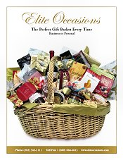 Picture of gourmet gift basket from Elite Occasions Gift Baskets catalog