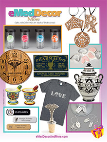 Picture of medical gifts from eMedDecor & More.com catalog