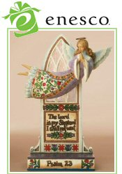 Picture of angel figurines from Inspirational Gifts by Enesco catalog