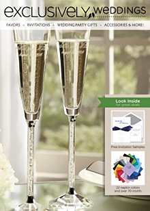 Picture of wedding guest favors from Exclusively Weddings catalog