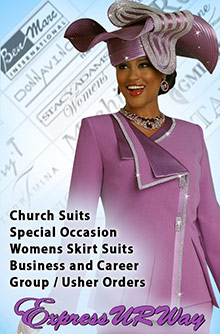 Picture of women's skirt suits from Expressurway catalog