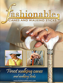Picture of walking canes from Fashionable Canes & Walking Sticks catalog