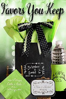 Picture of best bridal shower favors from Favors You Keep catalog