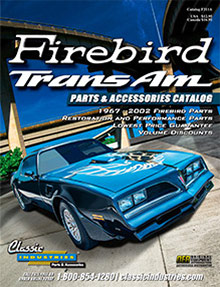 Picture of Trans Am parts catalog from Firebird TransAm Parts by Classic Industries catalog