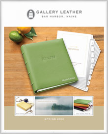 Picture of personalized leather photo albums from Gallery Leather - Wedding Photo Albums catalog