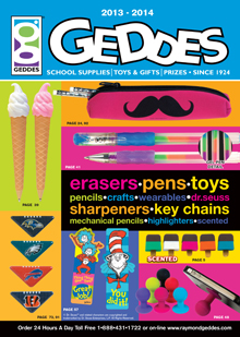 Picture of school supply catalogs from Geddes School Supplies catalog