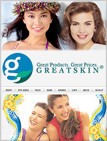 Picture of facial skin care from GreatSkin.com catalog