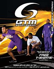 Picture of track and field uniforms from Track & Field by GTM Sportswear catalog