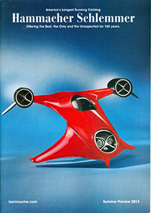 Picture of gadget gifts from Hammacher Schlemmer catalog