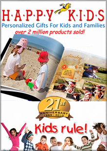 Picture of personalized children's books from Happy Kids Personalized catalog