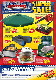 Picture of online bargain shopping from Heartland America catalog
