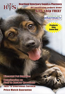 Picture of veterinary medications from Heartland Veterinary Cat & Dog Supply catalog