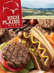 Picture of bison meat from High Plains Bison catalog