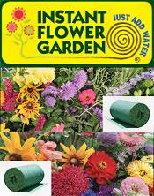 Picture of roll out flower garden from Instant Flower Garden catalog