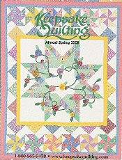 Picture of applique quilt patterns from Keepsake Quilting catalog