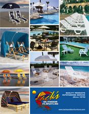 Picture of beach furniture from Lack's Outdoor Furniture catalog