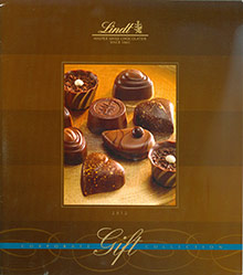 Picture of corporate chocolate gifts from Lindt Corporate Gifting catalog