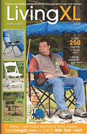 Picture of extra large chairs from Living XL catalog