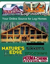 Picture of log home supplies from LogFinish.com catalog