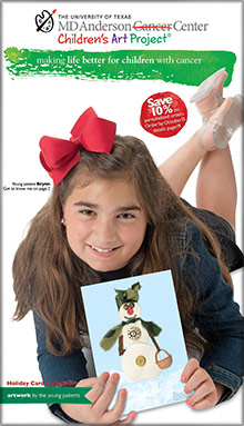 Picture of MD Anderson Christmas cards from MD Anderson Children's Art Project catalog