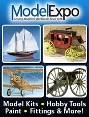 Picture of model ship kits from Model Expo catalog
