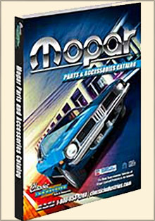 Picture of mopar performance catalog from Mopar Parts by Classic Industries catalog