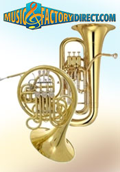 Picture of woodwind and brasswind from Music Factory Direct – Brass & Woodwinds catalog