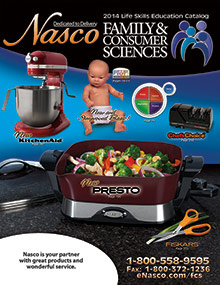 Picture of home economics teaching from Family & Home Economics by Nasco catalog