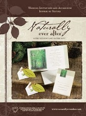 Picture of recycled paper wedding invitations from Naturally Ever After catalog